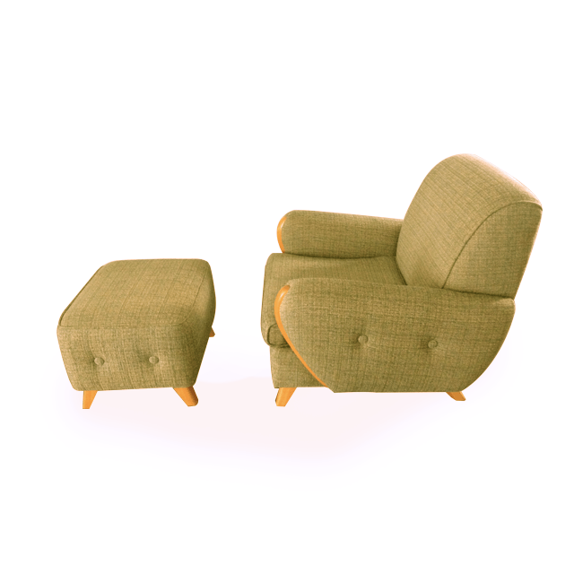 "Club Chair Ottoman Combo ""The Margaret Collection"""