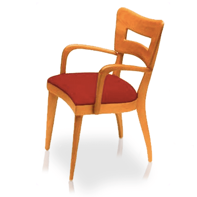 "Dining Chair, Arm ""Dog Biscuit"""