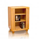 tambour with 2 shelves