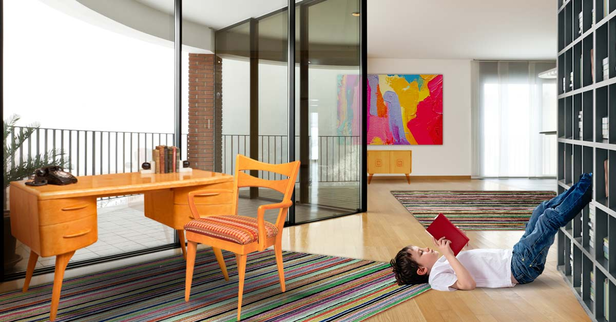 Mid-Century Modern Style Enlivens This Imaginary Apartment Furnished by Heywood-Wakefield