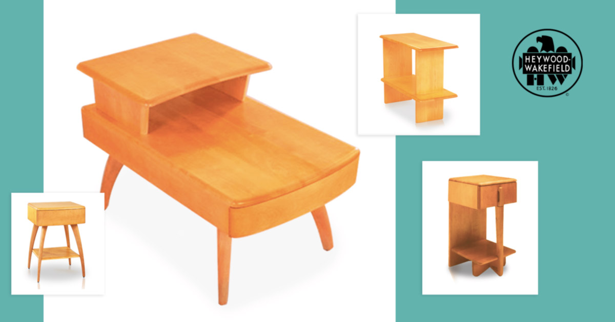 4 Fabulous Solid Wood End Tables from Heywood-Wakefield