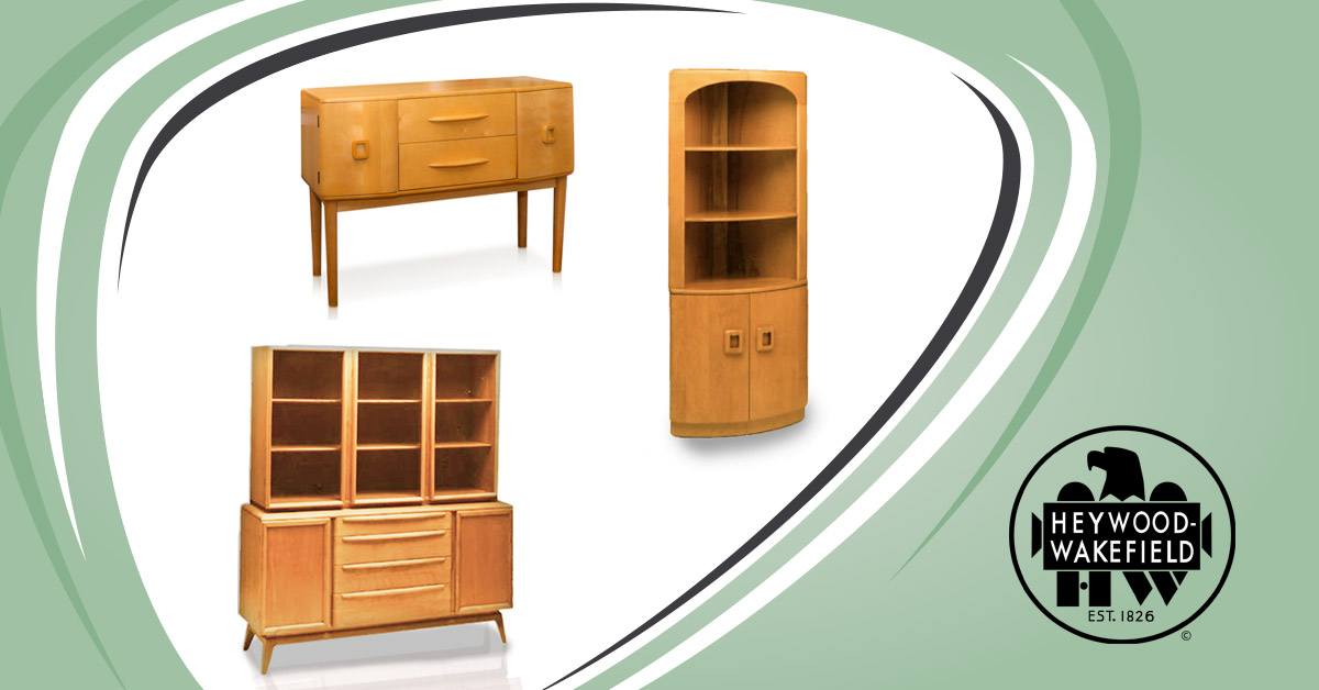 3 Elegant Dining Room Furniture Storage Pieces from Heywood-Wakefield