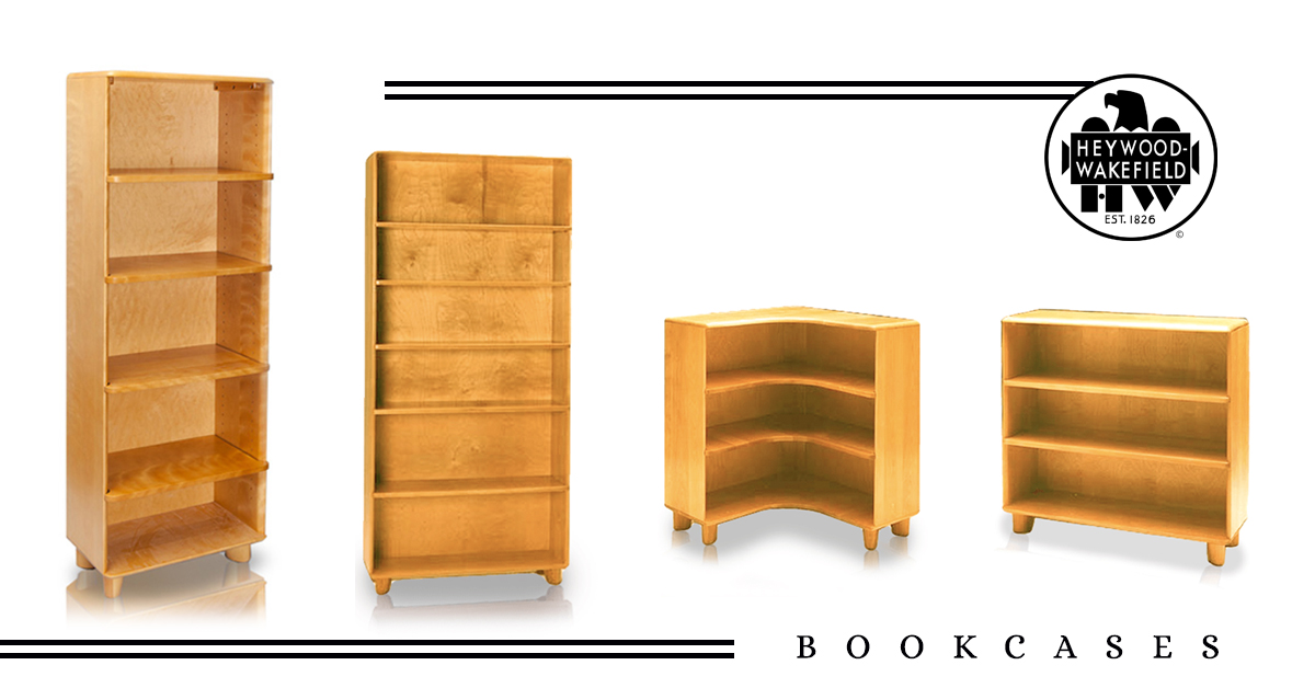 4 Styles of Beautiful Solid Wood Bookcases from Heywood-Wakefield