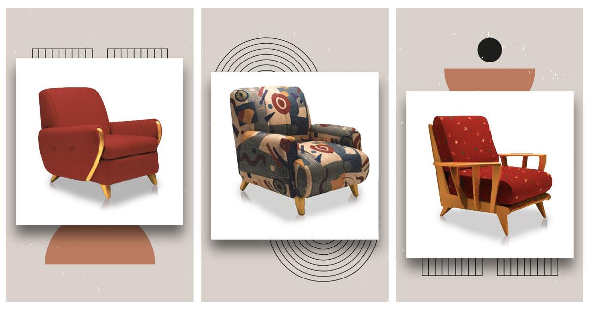 3 Luxurious Mid-Century Modern Club Chairs from Heywood-Wakefield